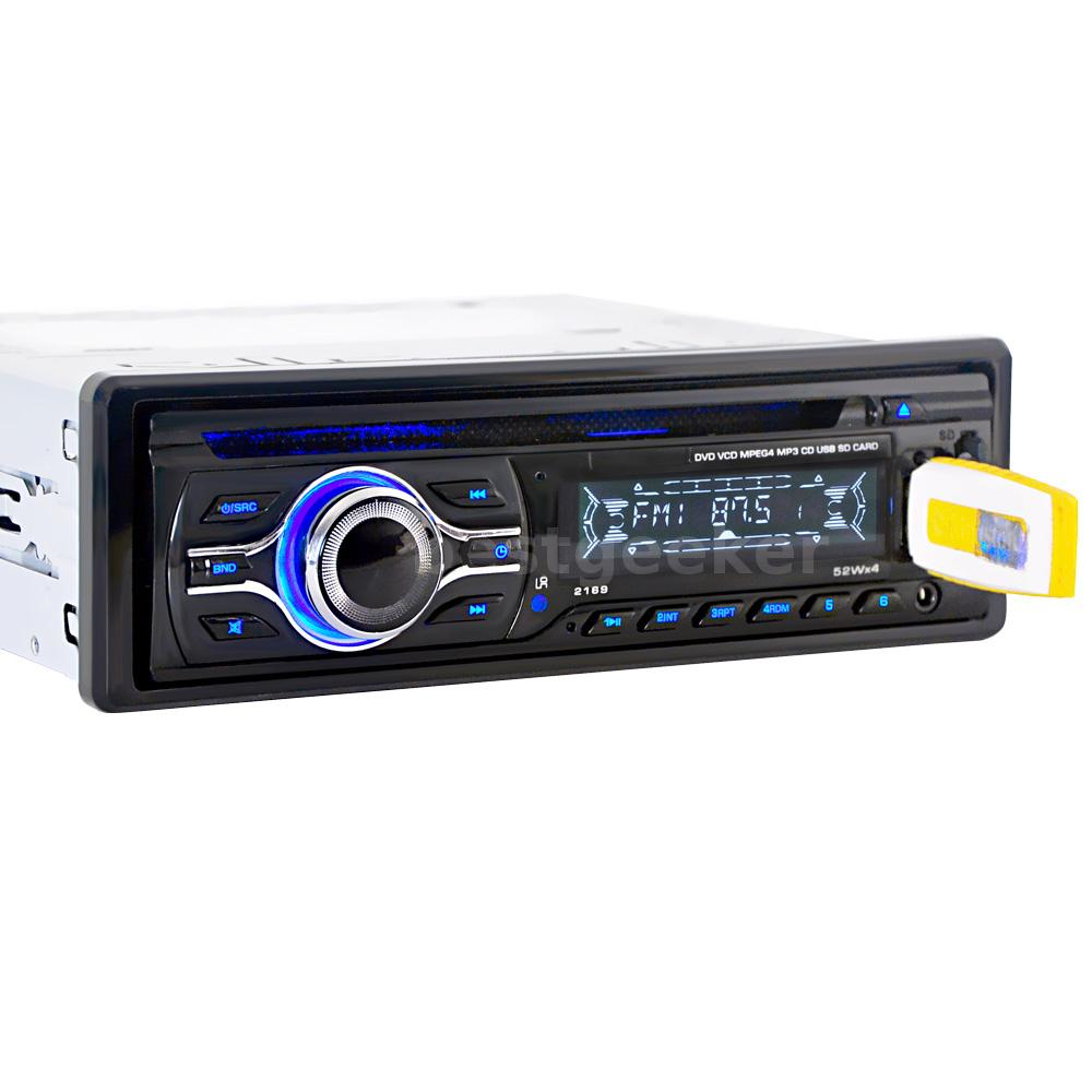 Car Auxiliary Port: Remote 1 DIN Car Stereo CD DVD MP3 Player FM Radio Aux