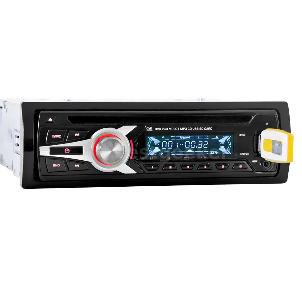 Car Stereo Radio Audio CD DVD MP3 Player With FM Aux Input