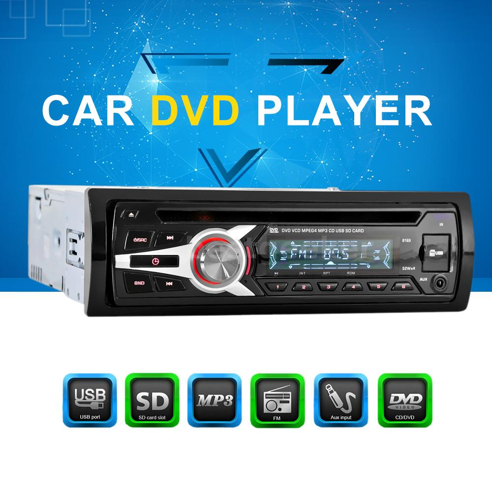 Universal Car Stereo Radio Audio CD DVD MP3 Player With FM