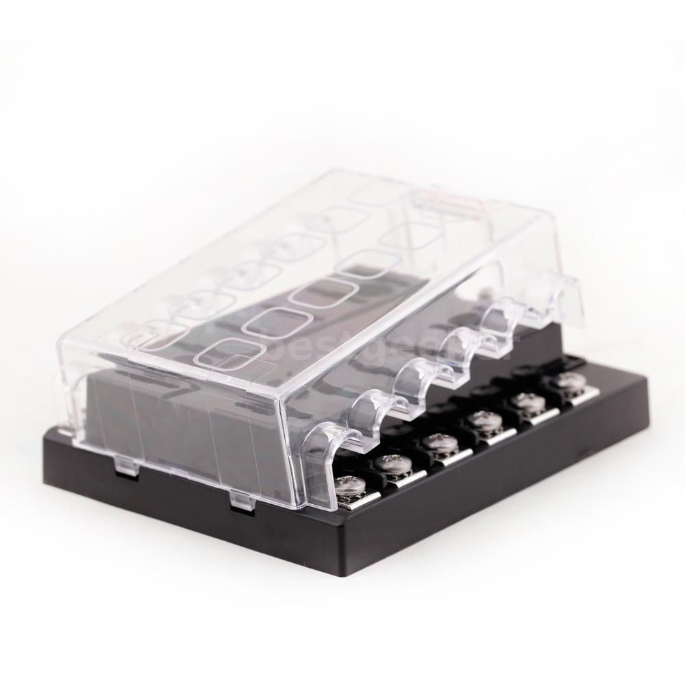 12 way 32v circuit car boat automotive blade fuse box. Black Bedroom Furniture Sets. Home Design Ideas